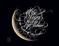 Calligraphy on Moon