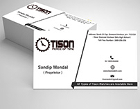 WATCH COMPANY VISITING CARD
