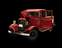 1932 Ford Model B - 3D Modeling and Rendering