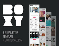 Boxy Multipurpose E-newsletter With T Builder Access