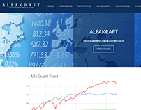 Alfakraft.se Web site - New design and fuctionality