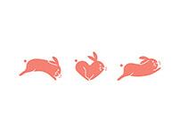 Leaping Bunny Logo Animation