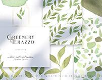 Greenery Terrazzo collection