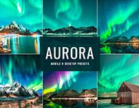 Free Aurora Mobile & Desktop Lightroom Presets