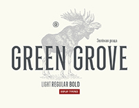 Green grove // typeface