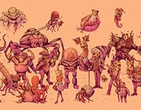 Sea Creatures - Inktober 2020