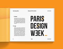 Paris Design Week visual identity book / redesign