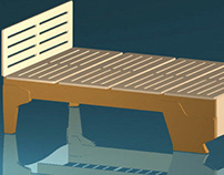 CNC ply bed drawn in AutoCad & 3D Studio Max