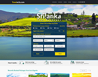 Landing page of Travel company