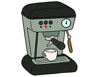 How to Make Coffee with an Esresso Machine Infographic