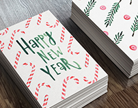 New Year Watercolor Cards Series