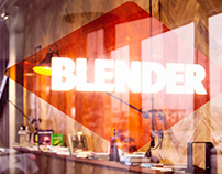 Blender juice and coffee bar branding
