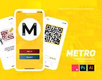 Metro (Transit Application) - UI, UX, & Graphic Design