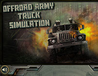Offroad Army Truck Checkpost Simulation Mobile Game