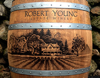WINE BARREL ART for ROBERT YOUNG WINERY