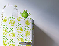 Doce Abacaxi -sweet pineapple,sticker for refrigerator