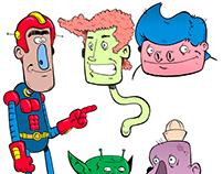 Sketchbook page with digital color