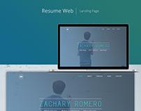 Resume Web - Landing Page