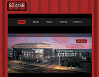 This is a web layout and design I made for a Staging co