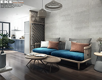 apartment design style of indochine