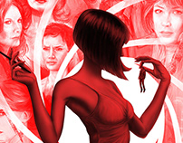 James Bond girls illustration