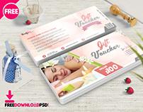 Spa Gift Voucher Psd Template