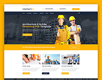 Construction – Architecture, Builder PSD Template