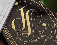JL wedding card
