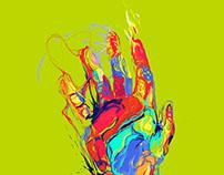 burst of colors - illustrations