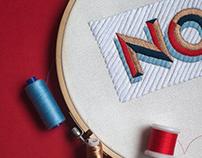 "Embroidery ""No"""