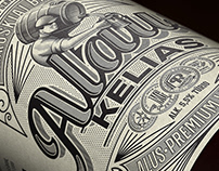 Brewery RINKUSKIAI Vintage style labels