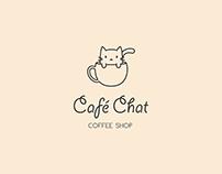 Logo/Branding: Café Chat Coffee Shop