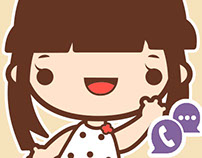 Fashionist Kat Stickers for Indoona