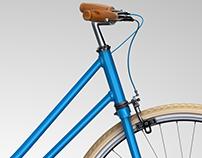 Ilustração em 3D de Bicicleta