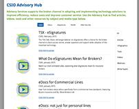 Advisory / Education Hub IA + Design