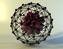 Abstract Model in Cinema4D