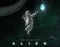 Alien: Illustrated Poster - #AlienDay2018