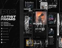 Epic Artist Promo - Social Templates