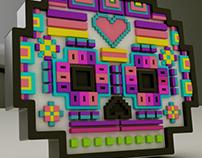 Mexican Skull Pixelart