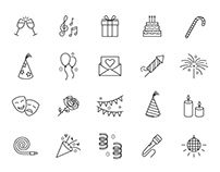 20 Celebration Vector Icons