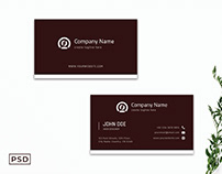 Free Dark Red Modern Business Card Template