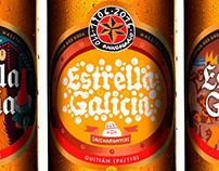 Estrella Galicia beer labels