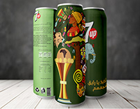 packaging for 7 up can Olympic African Games