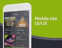 ComeOn mobile site