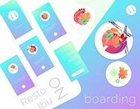 Resto Ibu iOS App | Onboarding With Illustrations