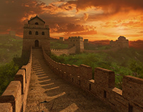 The Great Wall of China. 3d environment