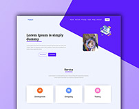 Responsive landing website template