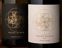 Peake Ranch Wine Packaging & Logo Design