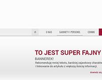 A skin clinic website design