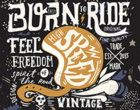Born to ride | Vintage motorcycles and race cars badges